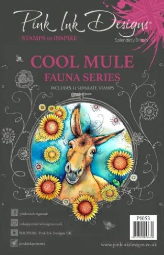 Pink Ink A5 Cool Mule Clear Stamp Set